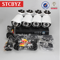 High profile economic plug and play ahd 720p ir camera outdoor dvr kit