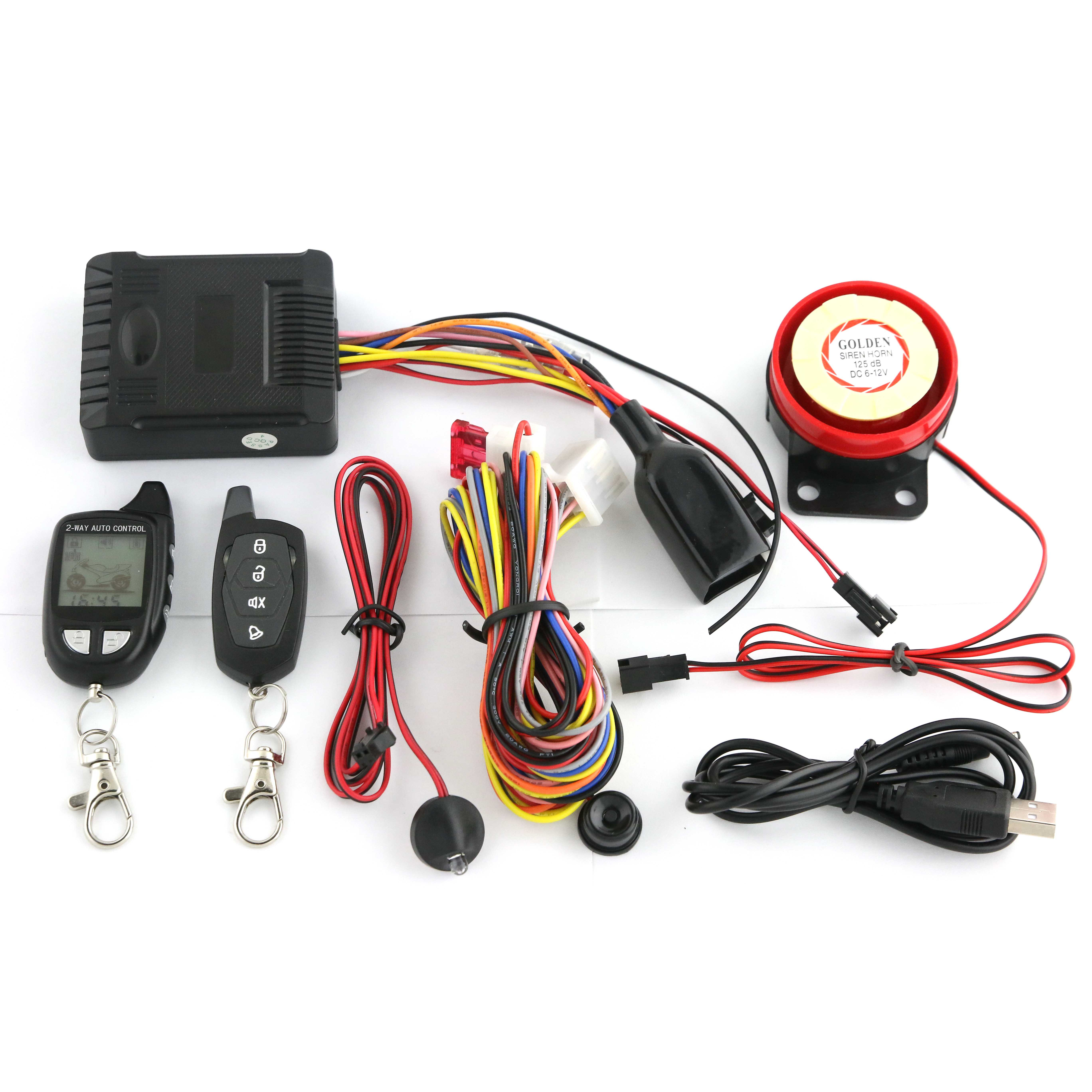 HUATAI 2 way 1500 meters motorcycle alarm with remote start <strong>shock</strong> warning <strong>HT</strong>-M09F