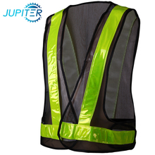 100% polyester high visibility sports protection yellow safety vest with pockets