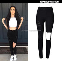 Z54061B women's jeans female trousers ripped jeans tight jeans