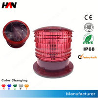 aquaculture solar powered LED marine marker light for hdpe knotless farming fish net cage