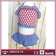 Wholesale New Design One Piece And Two Piece Girl Dot Swimsuit