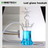 High quality clear glass hookah shisha hookah glass crystal wholesale glass hookah