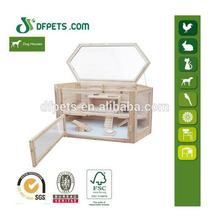 DFH002 Fir Wood Animal Rodent Cage For Hamster