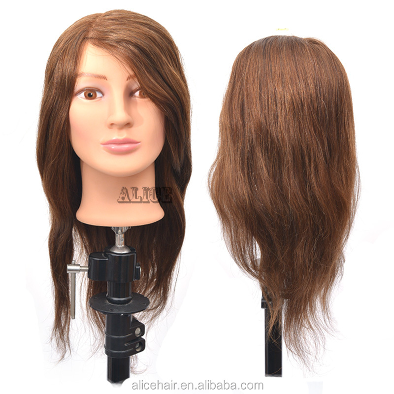 100% human hair hairdressing training heads,hairdresser mannequin head