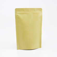 plastic kraft paper food zipper storage packaging bags for with clear window for coffee