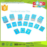 Promotional Toys Number & Letter Tiles Wooden Montessori Materials