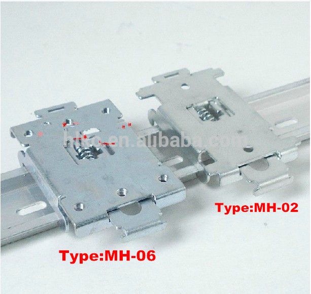 MH-06 metal PCB mounting <strong>adapter</strong>, DIN rail 35mm <strong>adapter</strong>, steel control board <strong>adapter</strong>