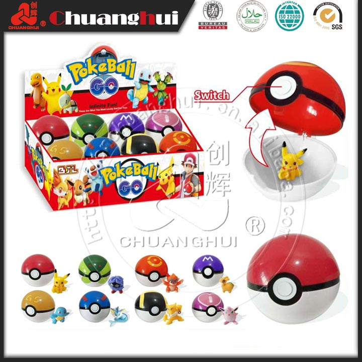 Hot Sell Pokemon Ball Toys Candy With Different Type of Toys