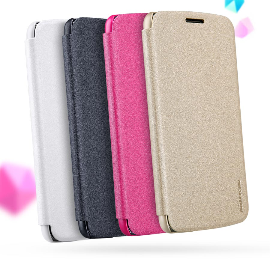 NILLKIN NEW LEATHER CASE-Sparkle Leather Case for G5