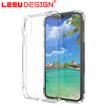 LEEU DESIGN Wholesale shockproof Phone accessories for iphone x tpu plain mobile phone case clear