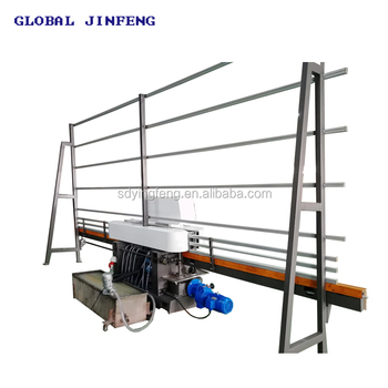 JFE-211  Hot sale 4 motors vertical glass straight line used edge polishing machine for flat glass