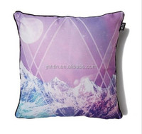 custom printed colorful design printed bench cushion