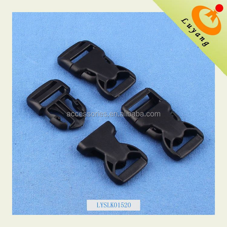 red plastic side release buckle center release buckles metal&plastic side release buckle