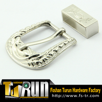 Made in China gunmetal silver two-joint belt buckle