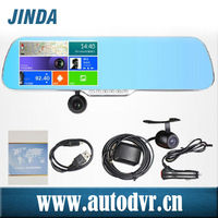 Touch screen night vision bluetooth handsfree car kit mirror wd0608