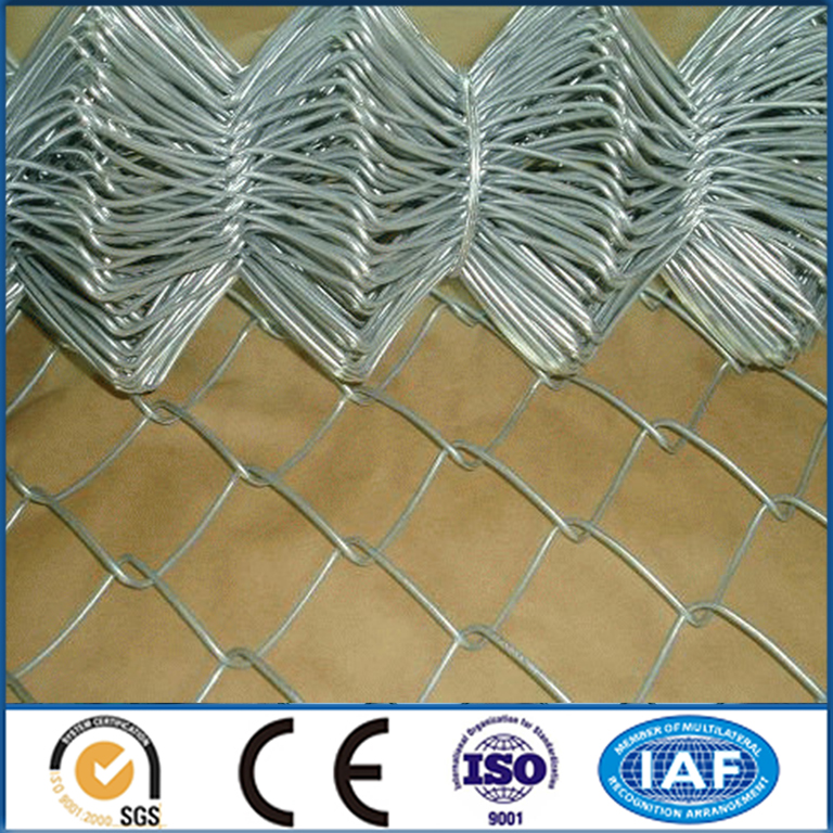 Galvanized Chain Link Fence/PVC Coated Used Chain Link Fence Panels(Factory)
