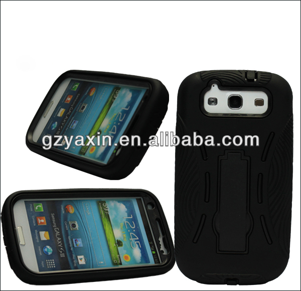 cell phone plastic case,non-slip hydrid robot mobile phone case for samsung galaxy s3