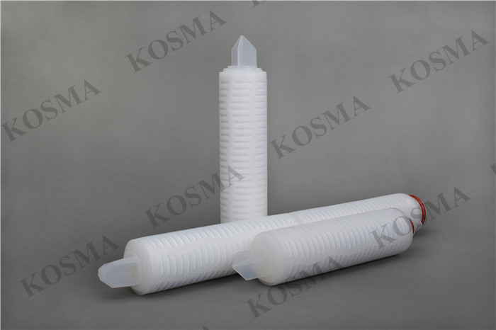 10 inch PES polysulphone filter 222/fin , 0.1um micron absolute rating PES membrane filter cartridge for beer sterile filtration