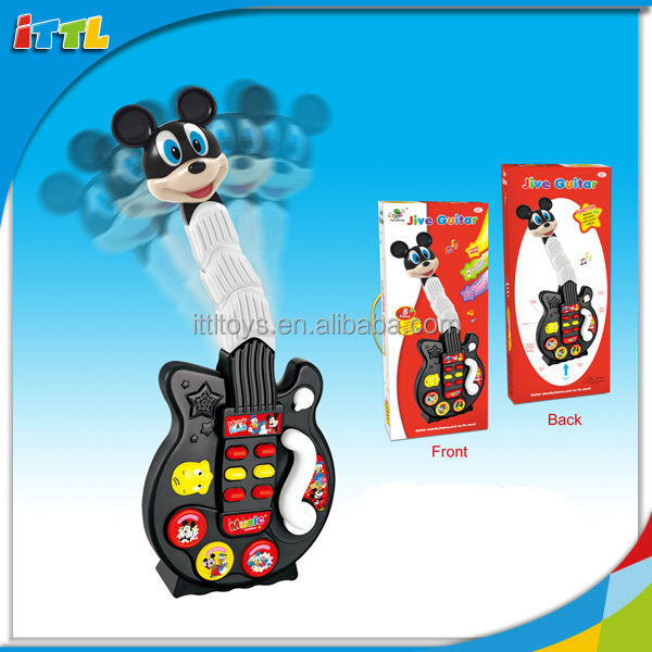 Promotional Toys Guitar With Light And Music Plastic Electronic Guitar Gift Toy
