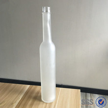 400ml long neck frosted glass beverage drinking bottles with plastic lid