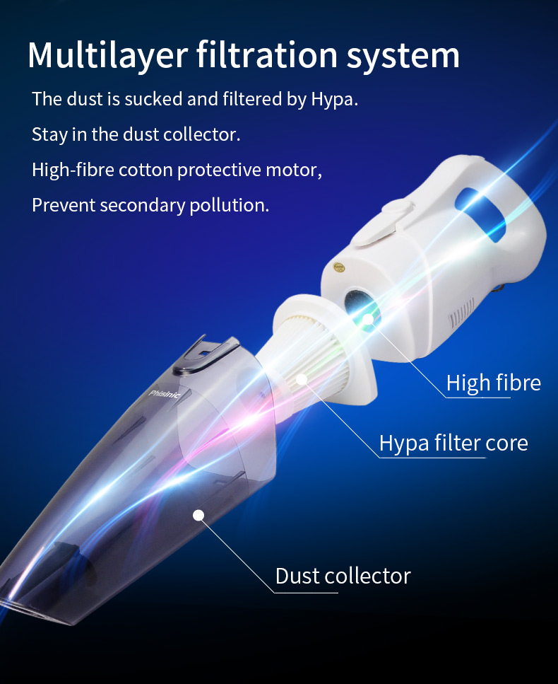 li-ion vacuum cleaner vacuum cleaner for cleaning dry Cyclone Filter Car/Home use cordless mini vacuum made in china