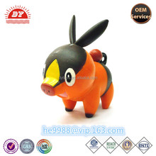 custom plastic cute famous cartoon game hot sell black pig toy