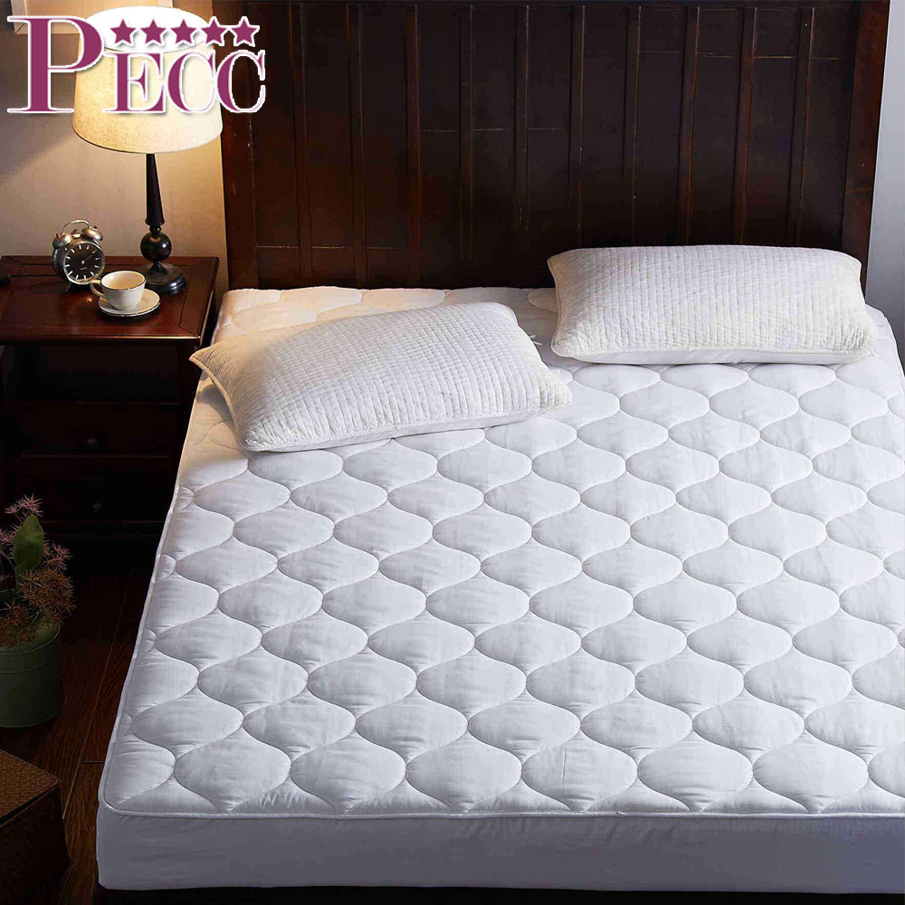 High Quality 100% Cotton Waterproof Hotel White Mattress Protector