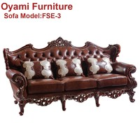 Elegant Italian Wooden direct from factory sale corner sofa
