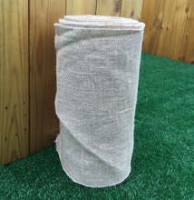 Bio-degradable jute burlap rolls with over-lock stitching, eco jute hessian fabric roll for glass industry