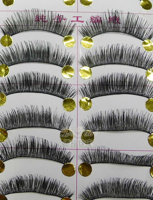 Real hunman hair hand made fales eyelashes
