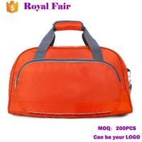 Orange Large Handle Duffle Bag Sport