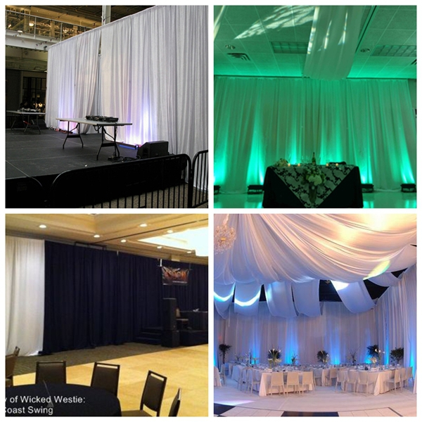Photo booth supplies | manufacturer of pipe and drape rental
