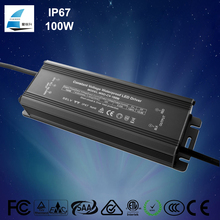 CE SAA ETL Listed IP67 100W 12V 8330ma Power Supply 24V 4170ma LED Driver Constant Voltage Waterproof Transformer