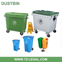 outdoor cleaning waste bin with cover and lids 1100liter dustbin