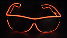 Light Up El Wire Tape Glasses for Party Bar Festivals Dance halloween Christmas