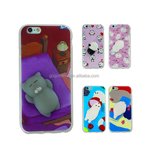 2017 wholesale 3D TPU china adjustable mobile 3d cartoon phone case for iPhone 7 PLUS