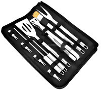 10-Piece Grill Tools,Stainless steel BBQ Kit