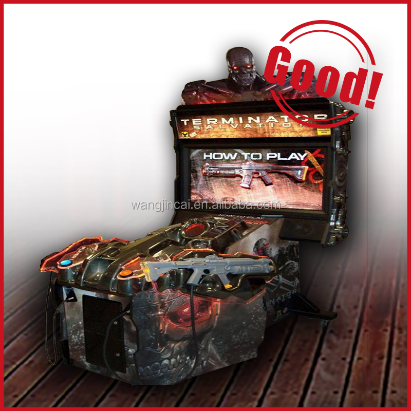 coin push simulator video games Terminator Salvation 4 arcade game machine indoor electric kids play slot machine