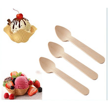 biodegradable and compostable disposable for distributor wooden mini dessert spoon