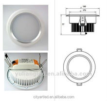 30W 3100 led downlight ip65 led downlight rectangular high lumen led downlight with CE ROHS