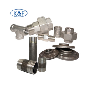 Fire Sprinkler Piping Fitting Fire Fighting Pipe Fittings Black & Galvanized Malleable Iron Pipe Fittings