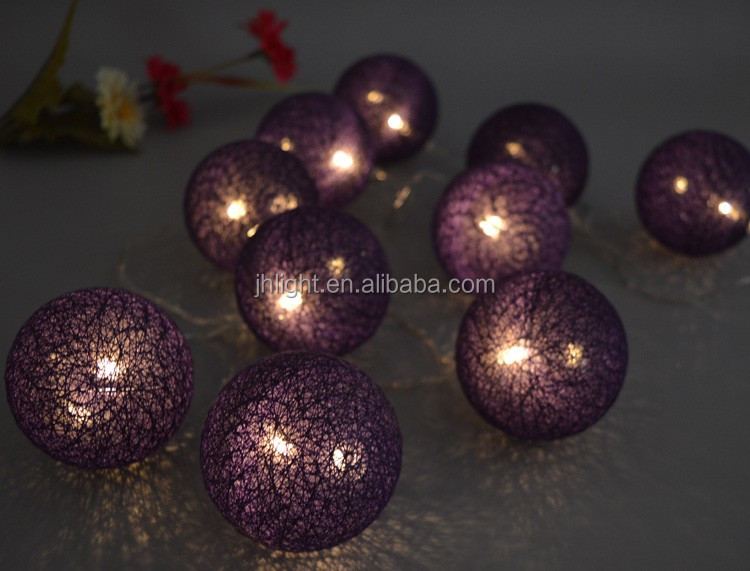 party decoration low cost cotton ball fairy bedroom string lights