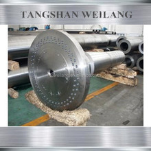 Customized long precision transmission forging stainless steel shaft, linear spline motor axle
