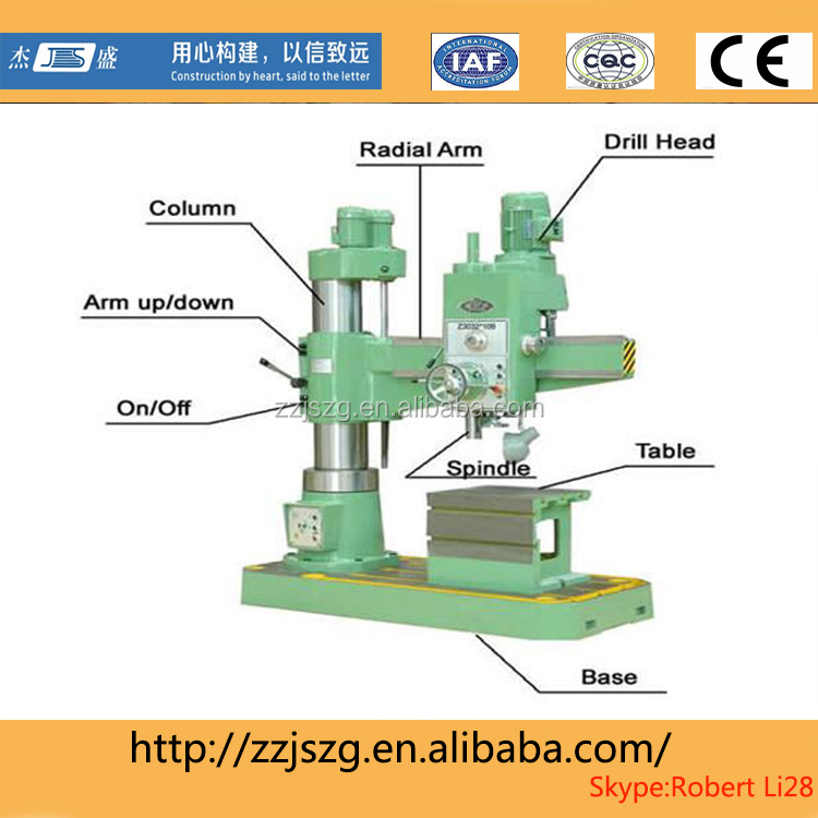 china used radial drilling machine price competitive