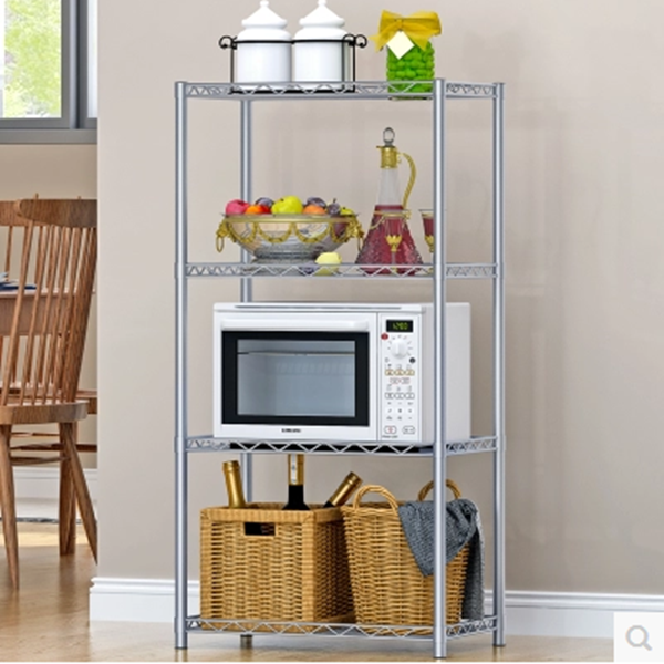 PN chrome wire display wholesale supermarket stainless steel conner kitchen shelf