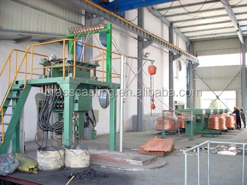 copper scrap melting to rod used advanced upward casting production line