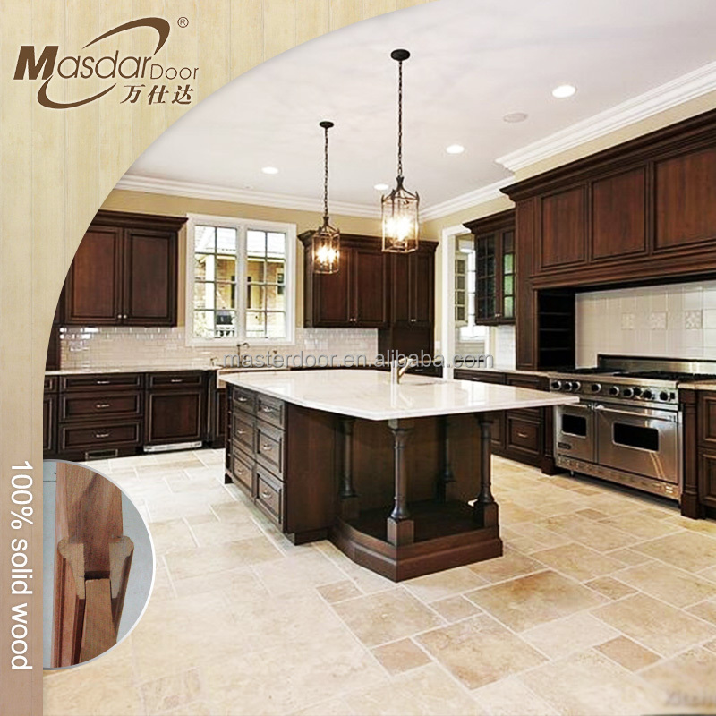 American wooden kitchen wall hanging cabinets design