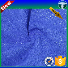 china supplier 100%Polyester coarse knit fabric wrinkles style single jacquard fabric for garment