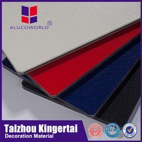 Alucoworld fireproof wall decoration board aluminum composite panel